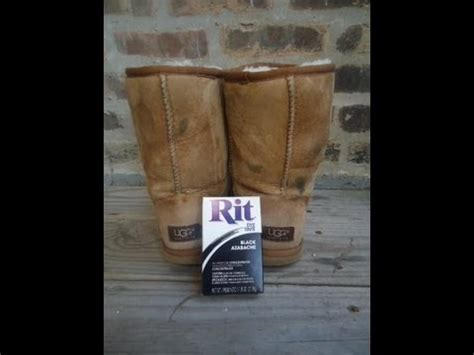 dying  thrifted ugg boots tutorial youtube