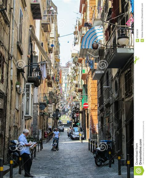 buildings  narrow streets    town  naples