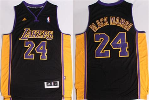 Los Angeles Lakers #24 Black Mamba Black With Purple ...