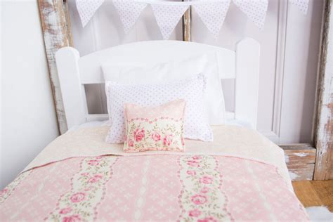 shabby chic bed blanket shabby chic doll bedding 18 doll bed bedding light