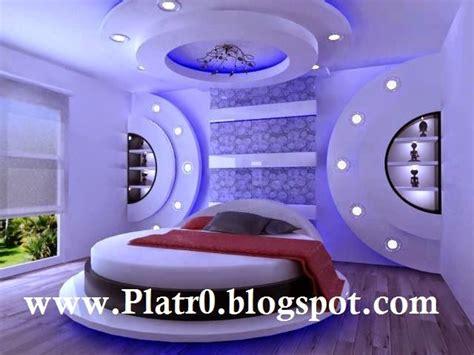 faux plafond tres moderne pour chambre à coucher 2015
