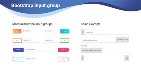 bootstrap input material design for bootstrap