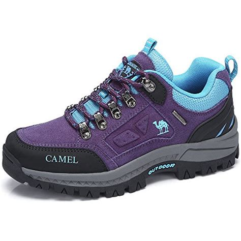 Camel Crown Men Hiking Shoes Low Cut Breathable Leather