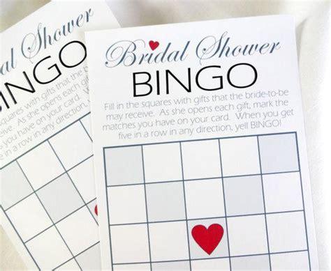 diy bridal shower bingo printable game cards