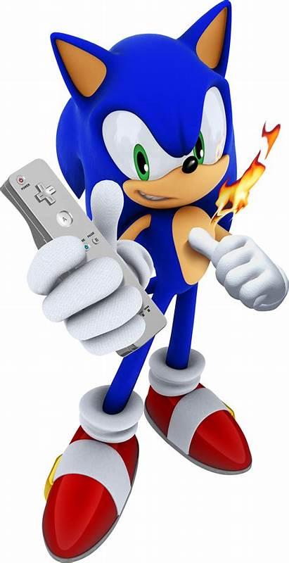 Sonic Rings Secret Hedgehog Render Fire Wii