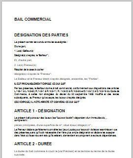 bail de bureau mod e idée modele bail commercial 3 6 9 pdf