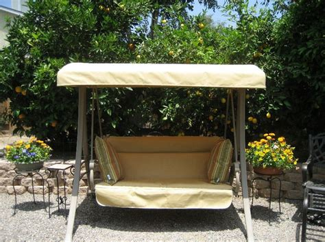 Patio Canopy Swing Home Depot by Home Depot Hton Bay Charm Patio Swing Refurbished With
