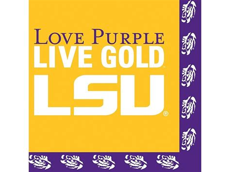 LSU Tigers Tailgating Kit Serves 8 Guests Includes Paper ...