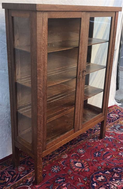 antique glass door cabinet antique mission oak glass door china cabinet by 4087