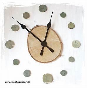 Uhrwerk Mit Zeiger Zum Basteln : baumscheiben uhr basteln ~ Eleganceandgraceweddings.com Haus und Dekorationen
