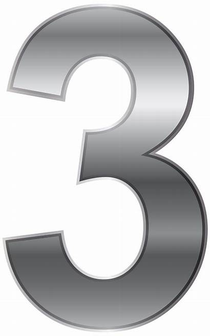 Number Three Transparent Clip Numbers Clipart Decorative