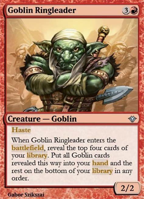 Goblin Commander Deck Wort by Goblin Ringleader Mtg Card