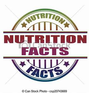 Clip Art Vector of nutrition facts stamp - nutrition facts ...