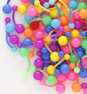 Neon Neon colors and Belly button rings on Pinterest