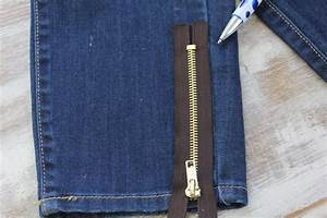 DIY Zipper Jeans (No Sewing Required) - Hello Glow