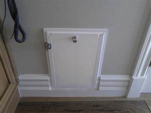 hale wall mounted pet door cut into the baseboard yelp With wall mounted dog doors best one