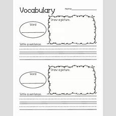 Vocabulary Activities Prima By Perfectly Primary Printables  Teachers Pay Teachers