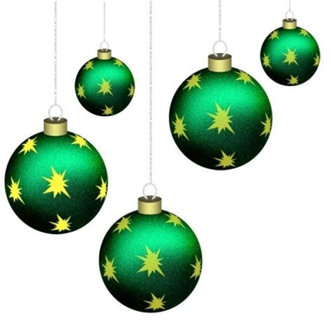 five green christmas baubles christmas pinterest