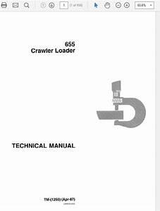 John Deere 655 Crawler Loader Technical Manual Tm