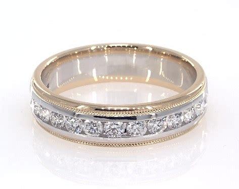 wedding rings mens 18k white and yellow gold s milgrain ring item 62510