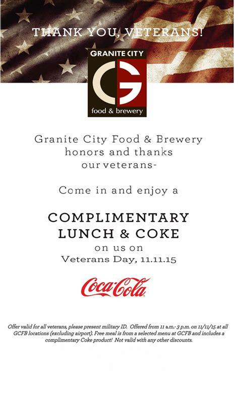 thank you veterans granite city food brewery