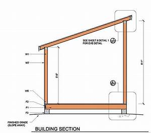 8x8 Lean To Shed Plans 14 Building Section Home Deco