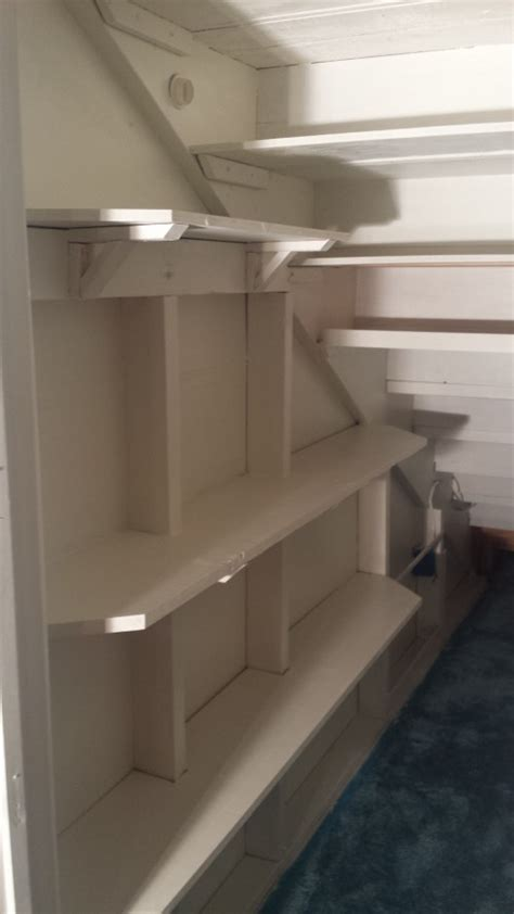 stairs closet makeover shanty  chic