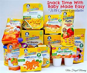 Snack Time With Baby Made Easy With Gerber Graduates