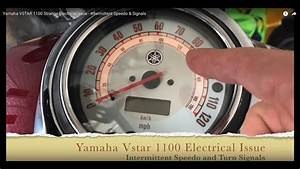 Yamaha Vstar 1100 Strange Electrical Issue - Intermittent Speedo  U0026 Signals