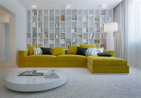 Living Room Yellow Sofa by Simple Inspiration On How To Style Around A Yellow Sofa