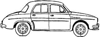 1960 renault ondine sedan blueprints free outlines