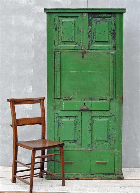 bureau olier vintage rustic vintage bureau cabinet original green