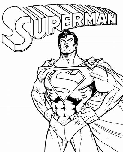 Coloring Superman Comic Pages Super Marvel Printables