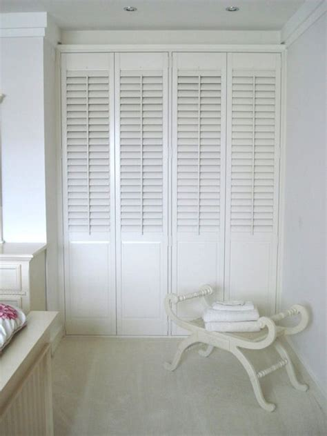 White Louvre Cupboard Doors by Fitted Wardrobes With Louvered Doors Search
