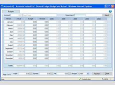 Budget Ledger Template budget template free