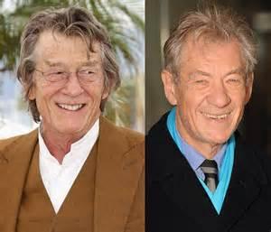 John Hurt and Ian McKellen