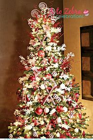 candy cane christmas tree decoration