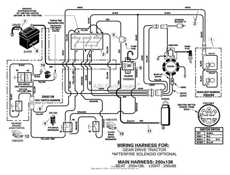 murray xd lawn tractor  parts diagram