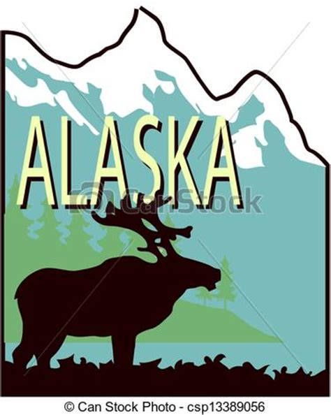 artwork prints alaska vector clipart instant csp13389056