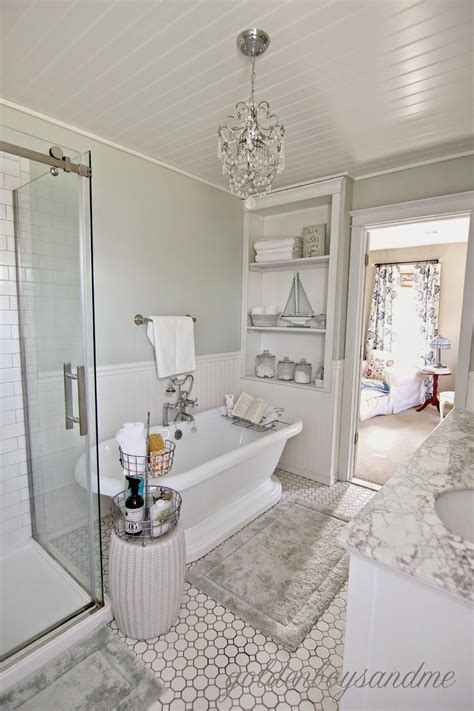 revisiting  master bathroom   year blogiversary