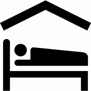 Person Lying On Bed Inside A Home Icons Free Download