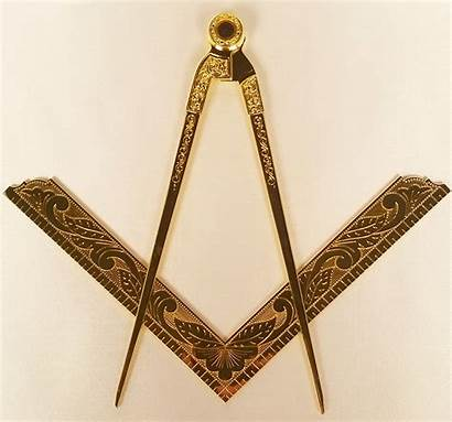 Compass Square Masonic Goldtone Bible