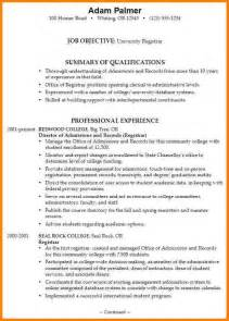College Application Resume Exle by 8 Resume Format For College Applications Inventory Count Sheet
