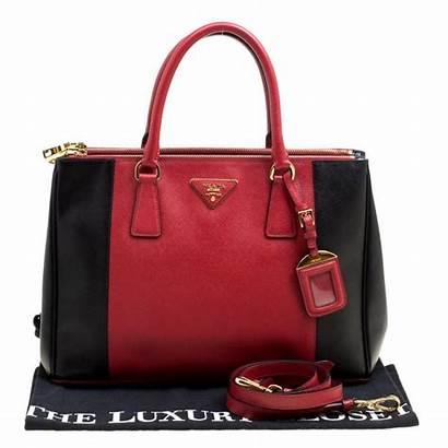 Prada Tote Leather Zip Double Lux Saffiano