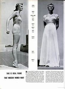 What the Ideal Woman Looked Like in the 1930s: Measurements