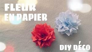 Fleur De Papier : d coration murale faire une fleur en papier youtube ~ Farleysfitness.com Idées de Décoration
