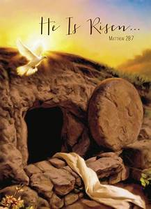 He is Risen | Empty tomb, Christian easter and Easter card