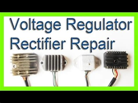 how to repair a voltage rectifier regulator charging system