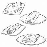 Omelett Omelet Omelette Omeletts Clip Illustrations Vektorsatz Vektoruppsaettning Av Illustrationer Clipart Foer Pa Illustrationen Vektoren sketch template