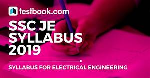 Ssc Je Syllabus For Electrical Exam 2019